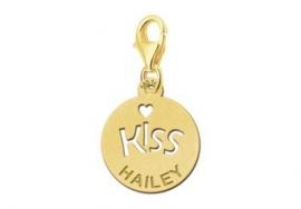Names4ever Gouden Kiss Bedel met Naam