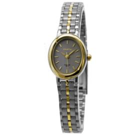 Prisma Ovaal Dames Horloge met Edelstalen Horlogeband en Goudkleurige Coating