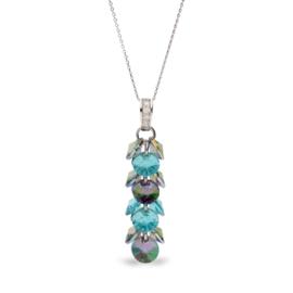 Frou Frou Aquablauwe Glaskristallen Ketting van Spark Jewelry
