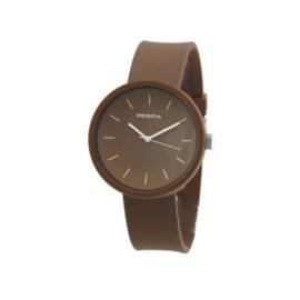 Prisma Bruin Unisex Horloge met Bruine Band