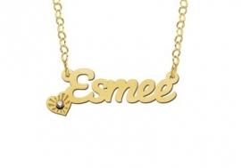 Names4ever Esmee Stijl Gouden Naamketting