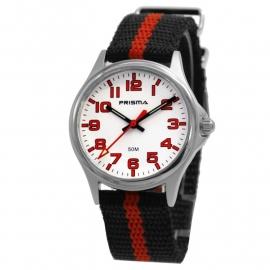Prisma Horloge 33H221904 Kids HT Jeroen Rood/Wit