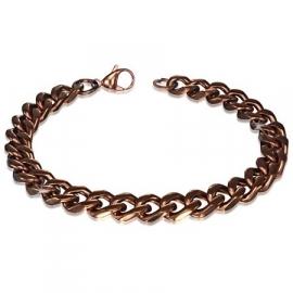 Bruine Armband met Karabijnsluiting