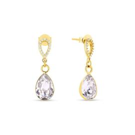 Spark Melfi Gilded Oorhangers Crystal