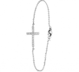 Armband van Zilver met Zirkonia Kruis