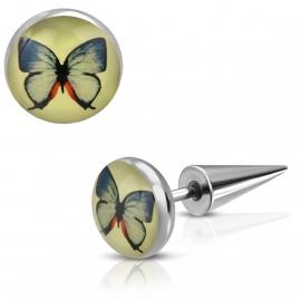 Imitatie Piercing met Vlinder