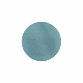 Licht Blauwe Platte Schelp 24mm Insignia met MY iMenso