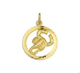 Gouden Hanger Sterrenbeeld Schorpioen Gediamanteerd