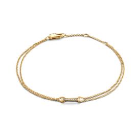 Excellent Jewelry Geelgouden Armband met Briljanten