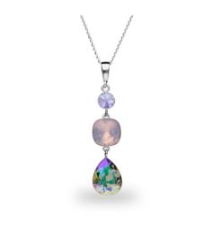 Spark Classico Ketting met Gekleurd Glaskristal
