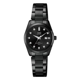Q&Q Zwart Horloge QZ13J402