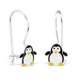 Zwart met Witte Pinguin Oorhangers
