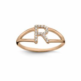Nomelli Iniziali-Foggia Ring van Roségoud