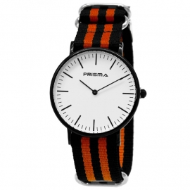 Prisma Horloge - Canvas band 1622.23WG