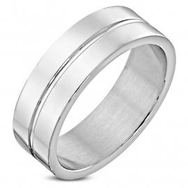 Stalen Band Ring (Graveren mogelijk)