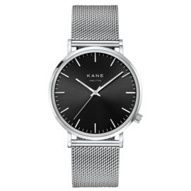Zilverkleurig KANE Horloge met Zilverkleurige Milanese Horlogeband