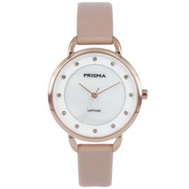 Basic Roségoudkleurig Dames Horloge van Prisma met Roze Band
