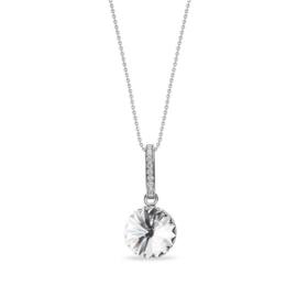 Candy Chic Collier met Elegant Witte Glaskristal van Spark Jewelry