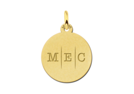Gouden Initialen Hanger met Drie Letters | Names4ever