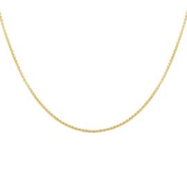 Slank Gouden Venetiaans Collier | Dikte 1,2mm Lengte: 42cm