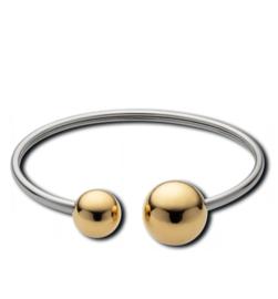 Zilverkleurige Armband met Goudkleurige Bolletjes van M&M