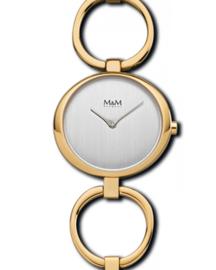 Goudkleurig Dames Horloge met Luxueuze Open Schakelband van M&M