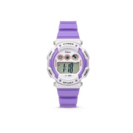 Paars met Wit Digitaal KIDZ Horloge van Colori Junior