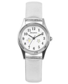 Little Flower Wit Meisjes Horloge met Metallic Horlogeband