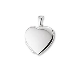 Egaal Robuust Hartvormig Medaillon van Zilver 10.05530