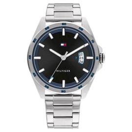 Tommy Hilfiger Zilverkleurig Heren Horloge – Stalen Schakelband