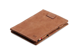 Camel bruine Magic Wallet Portemonnee van Cavare Garzini
