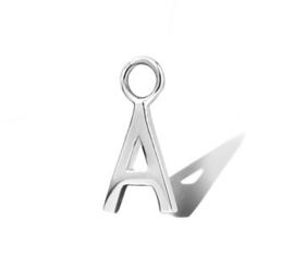 Zilveren Oorringhanger Letter A