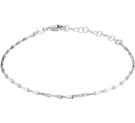 Zilveren Armband met Gedraaide Slanke Schakels