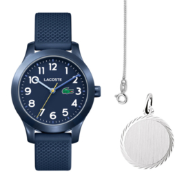 Lacoste Kids Horloge Gift Set + Gratis Ketting!