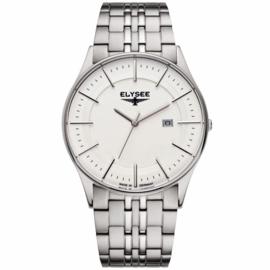 Stijlvol Zilverkleurig Diomedes Heren Horloge van Elysee