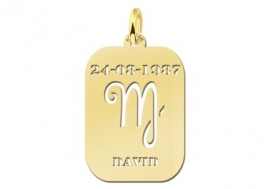 Names4ever Astrologie Maagd Goud Hanger in Goud GHS006