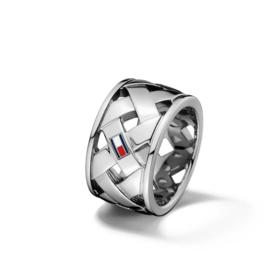 Tommy Hilfiger Gevlochten Dames Ring TJ2701023E / 18,5