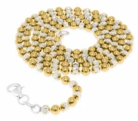 Goud gedoubleerde kralenketting 27-0019