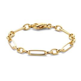 Excellent Jewelry Geelgouden Armband met Wisselende Schakel