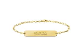 Mathilda Bar Armband van Goud met Naam > Names4ever