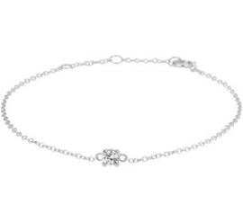 Zilveren Armband met Kleurloze Zirkonia