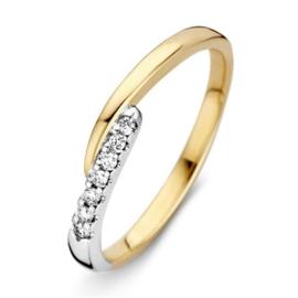 Excellent Jewelry Bicolor Ring met Briljanten Uiteinde
