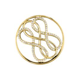 Goudkleurige Driedubbele Infinity Munt met Zirkonia's van MY iMenso