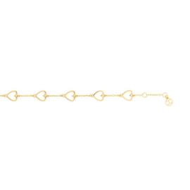 Goudkleurige Opengewerkte Hartjes Armband van Tommy Hilfiger TJ2780297