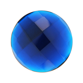 Blauwe Facetgeslepen Quartz Glas Munt van MY iMenso