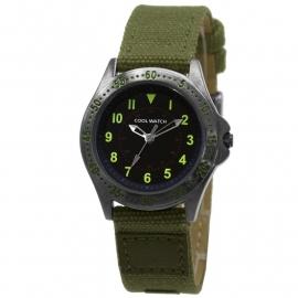 Cool Wacht CW.255 Jongens Horloge Bolk Groen Canvas