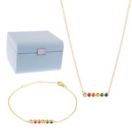 Armband en Collier Gift Set + Gratis Sieradenbox t.w.v. € 45,-