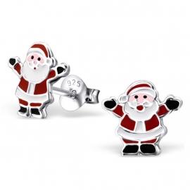 Vrolijke Kerstman Oorbellen van Zilver