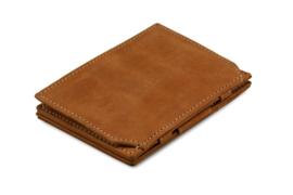 Camel Bruine Magic Coin Wallet Portemonnee van Essenziale Garzini