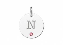 Names4ever Ronde Letter Hanger met Geboortesteen